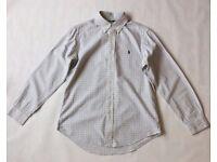 Men's Checked Blue/White Ralph Lauren Shirt