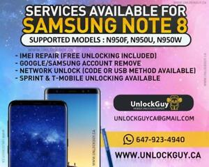 SAMSUNG S8 S8+ S7 S7 EDGE A520W NOTE 5 S6 S6 EDGE S6 EDGE + LG G6 G5 NETWORK REPAIR UNLOCK NO SERVICE UNREGISTERED SIM