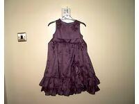 Sugar Plum girls purple satin party dress size 110 cms