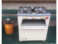 2 ring gas cooker with gas cylinder