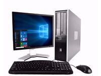 HP Desktop PC - (Windows 10 PRO) – 19' inch Branded Monitor - Dual Core - 2GB RAM – WiFi - 160GB HDD