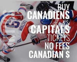 Habs vs Capitals tickets Mar 24! We're like Ticketmaster/StubHub but no fees, CA$, $10 off for new customers
