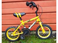 Child's (3/5 yr) Bicycle. Bright Yellow and Black Little Bike.