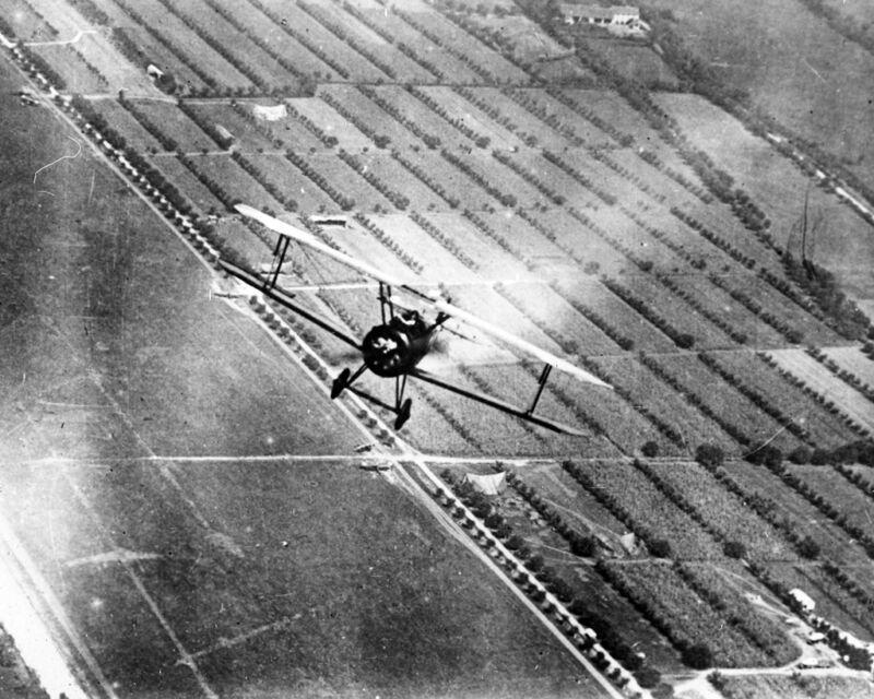 New 8x10 World War I Photo: Flying Ace Major William Barker in Sopwith Camel