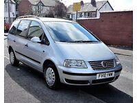VOLKSWAGEN SHARAN 1.9 TDI PD S + LOW MILEAGE+ 39K MILES +AUTOMATIC+ FULL SERVICE HISTORY+ 7 SEATER