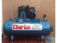 Clarke Air Compressor SE19C200, 4 HP, 18 amp, 10.3 bar, 1PH
