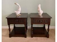 """LOVELY PAIR OF """"OLD CHARM"""" SOLID DARK OAK CABINET"""