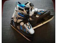 SFR Ice Skates, Blue and Black Size 4-7