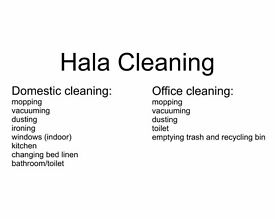 Hala - domestic, office cleaning