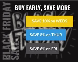 BLACK FRIDAY SALE on ALL tickets for ALL events in Canada starts today on TikTiks.com! No fees, CA$, best prices online!