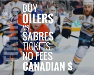 Oilers vs Sabres tickets! Jan 23rd We're like Ticketmaster/StubHub but no fees, CA$, cheaper 5% off for new customers