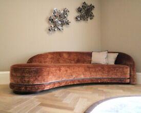Sofa & Chair Company Luxury Velvet Curved Sofa | RRP £6,060