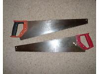 Pair of wood saws