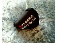 Odessa White Ball (2 Ball) Mallet Style Putter With Original Headcover