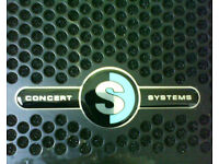 Pair Concert Systems 1x15 PA speakers. High quality cabs, cabinets, monitors.