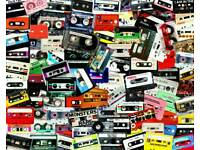WANTED LARGE COLLECTIONS OF MUSIC CASSETTE TAPES