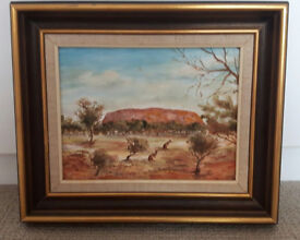 Canvas oil painting framed Fransiscus Ayers rock