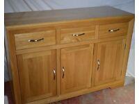 Pristine Oak Sideboard