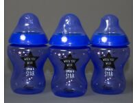 NEW 3 When you wish upon a star 260ml bottles PURPLE - £10