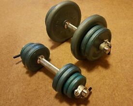 Cast Iron Dumbbell set