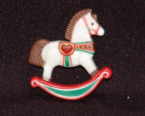 Hallmark Rocking Horse Pin Vintage 1980s