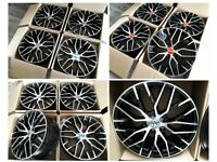 "HT121* NEW 19"" 20"" INCH ALLOY WHEELS ALLOYS VW VOLKSWAGEN GOLF GTI R SCIROCCO CADDY PASSAT TIGUAN"