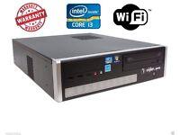 WINDOWS 7 PRO FAST VIGLEN TOWER COMPUTER PC INTEL CORE i3 @ 3.30GHz 4GB DDR3