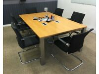 office meeting table boardroom conference ( Top slight damage )