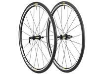 Brand New in box MAVIC ELITE AKSIUM WTS 700c bike wheels with tyres 7 8 9 10 11 speed shimano