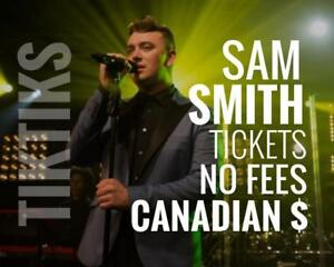 Sam Smith Tickets! June 19th  We're like Ticketmaster/StubHub but no fees, CA$, cheaper, five star CDN company