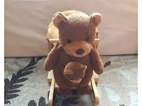 Rocking Teddy Bear with Puppet
