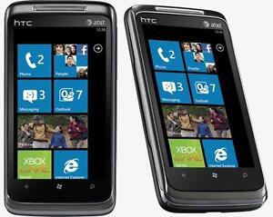 HTC 7 SURROUND UNLOCKED WORLDWIDE DÉBLOQUÉ MONDIALEMENT FIDO CHATR KOODO ROGERS CUBA ANDROID 4G HSPA 3G GSM CAMERA WIFI