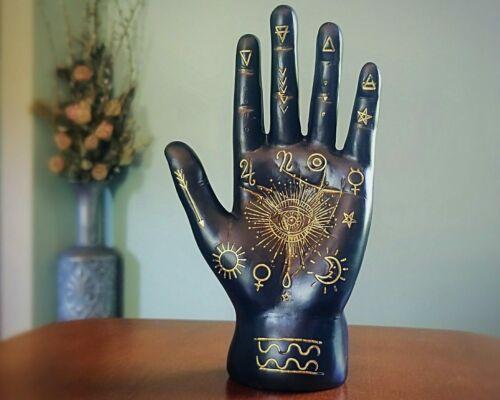 Black Palmistry Hand, Fortune Telling Hand, Oddities, Curiosities