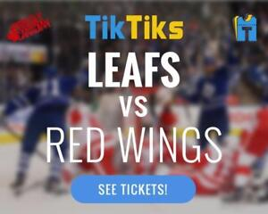 Maple Leafs vs Red Wings tickets! Oct 18th Cheaper than Ticketmaster/StubHub No fees, CAD$ - only lower bowl