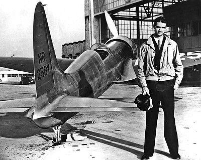 New 8x10 Photo: Aviator Howard Hughes with H-1 Racer, Hughes Aircraft Airplane