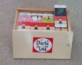 Wooden Charlie and Lola Dominoes (RARE!)