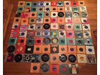 Job lot of 95 records. 7 inch vinyl. Mainly from 1960s. The Beatles, The Rolling Stones, Queen..