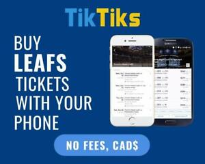 100% Verified Maple Leafs tickets for all home games! Safe and secure transactions, all in CAD!