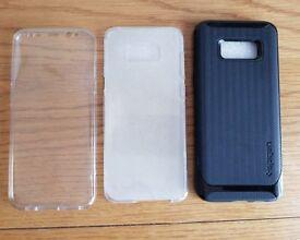 Galaxy S8+ Phone Case By Spigen + a free clear case