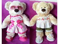 Build a bear Patchwork teddy with 2 outfits