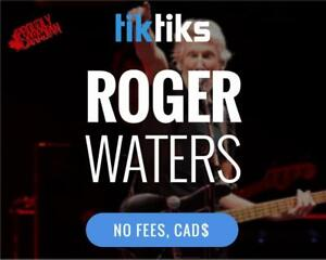 Roger Waters Concert Tickets Live at CTC on Oct 10th! NO FEES, CAD$, 5 Star Canadian Company!