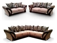 IMPORTED BRAND NEW SHANNON CORNER & 3+2 SOFA SET   FREE DELIVERY  