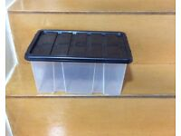 Storage Plastic Tub with black lid