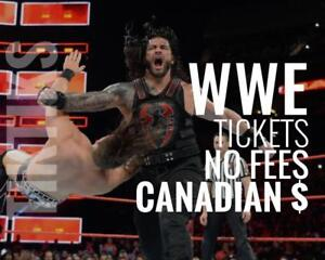WWE Raw & Smackdown Tickets in Toronto Aug 27th & 28th! Canadian $, cheaper than Ticketmaster, no fees,