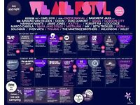 1 x We are Fstvl 3 day Weekend + Camping Ticket