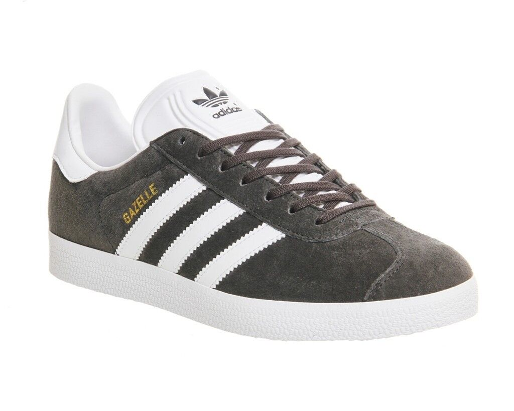 ad2ec52474c36c Adidas Gazelle Og Dark Grey Shoes Uk7 NEW MENS UNISEX TRAINERS SNEAKERS