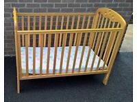 Mothercare Dropside Cot (Pine Wood)