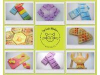 Homemade wax melt creations.