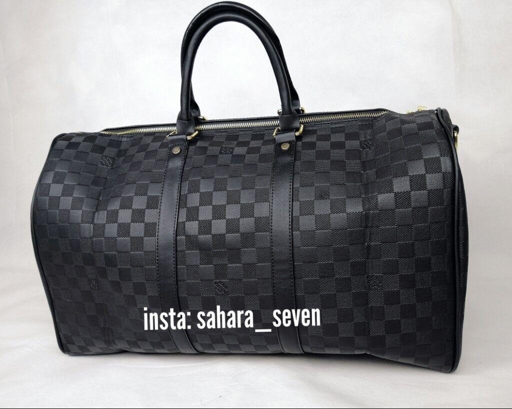 20639287174 Mens or Ladies Full Black Lv Gym Bag Louis Vuitton Holdall handbag ...