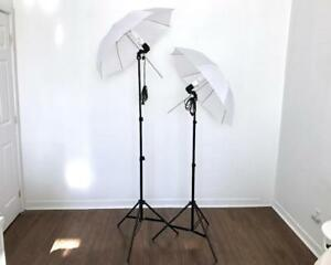 Lumière Parapluie Éclairage PRO de Studio pour Photo Video Umbrella Light Lighting Kit 2028